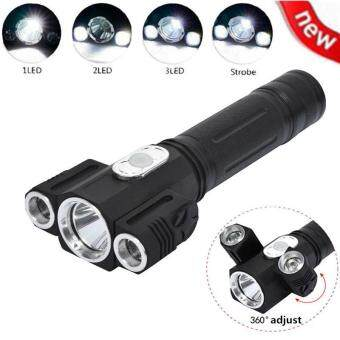 5000LM CREE XML T6 + 2R5 LED flashlight Torch 4 Modes LED lightTorch Magnetic Tactical Flash lamp For 1x18650 Battery