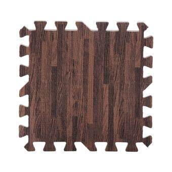 Harga 9pcs 30*30cm Imitation Wood Soft Foam Floor Mats Deep Wood Grain