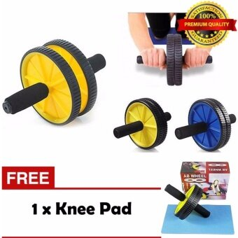 Ab Roller Double Wheel + FREE One Knee Pad