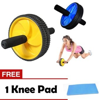 Ab Roller Fitness Double Wheel Gym Roller Total Body Exercise Workout + 1 FREE GIFT Knee Pad
