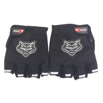 Harga AFGY FGB 083 Cycling Half Finger Gloves Motorcycle Racing OutdoorSports - Black