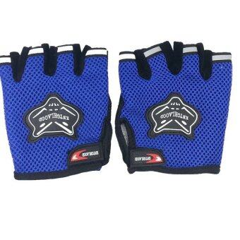 Harga AFGY FGB 083 Cycling Half Finger Gloves Motorcycle Racing OutdoorSports - Blue