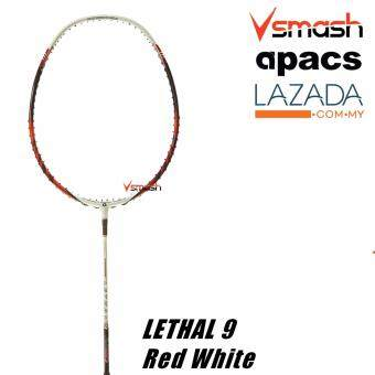 Apacs Lethal 9 (4U) Red White Badminton Racket
