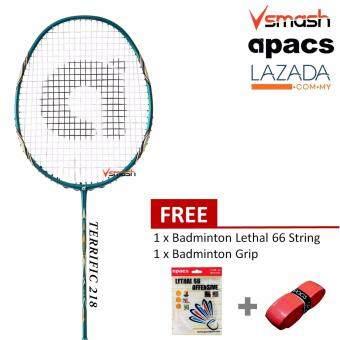 Apacs Terrific 218 (4U) Blue Badminton Racket Package