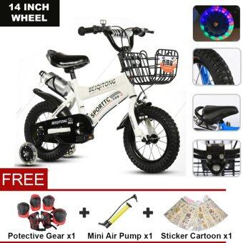 BEIQITONG (NP138) 14 Inch Wheels Sturdy steel frame BMX Freestyle Kids Sport Bikes With Training Wheels for Boys Or Girls
