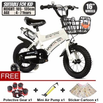BEIQITONG [NP148] BMX Freestyle Kids Bikes 16 Inch Wheels Boy's And Girl's Bikes With Training Wheels, Gifts For Children