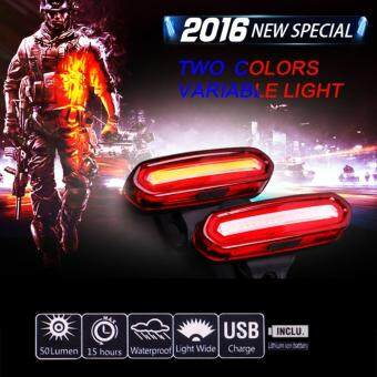 Harga Bike Light Rear Taillights Red White Led Usb Rechargeable MountainBike Bicycle Lights Tail Lamp Waterproof Cycling Equipment - Red