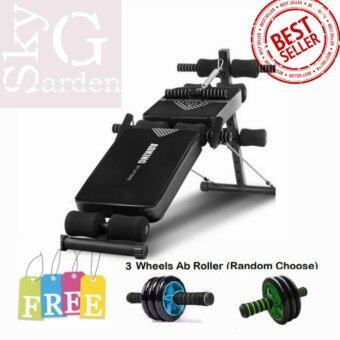Harga BUGZ Sport Multi-Functional Fitness Gym Sit Up Bench Chair withFree 3 Wheels Ab Roller