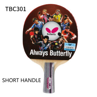 Butterfly Table tennis racket 100% origina TBC 301 Doublepimples-in rubber Ping Pong Racket (Long Handle) - 4