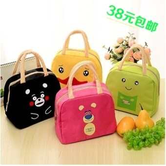 Cartoon Oxford Cloth portable large capacity lunch bag insulationbag