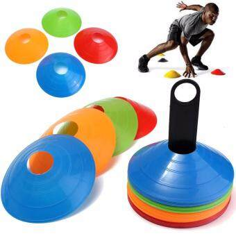 Harga Charles Bentley 50 Multi Coloured Space Disc Training Markers ConesWith Stand