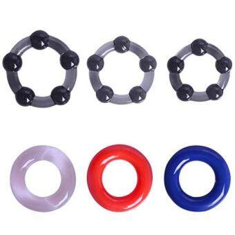 Cob Cock Ring Male Erection Enhancing Rings (6 Pack)