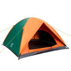 Double Layer Camping Tent Outdoor 3 4 Person Hiking Door
