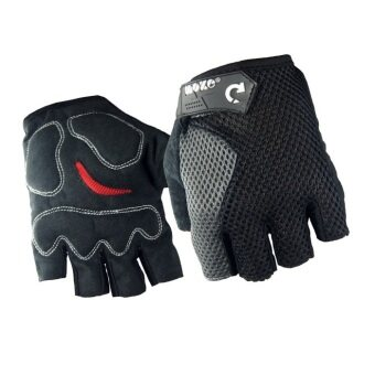 EcoSport Anti-Slip Wrist Support Sport Gloves (Black)