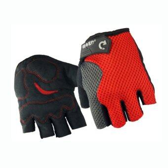 EcoSport Anti-Slip Wrist Support Sport Gloves (Red)