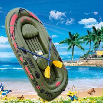 EcoSport Inflated Boat for 2-3 Person with Paddles and Pump
