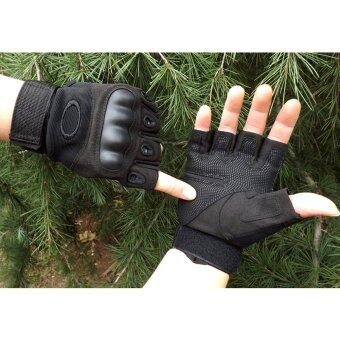 EcoSport Tactical Gloves, Half Finger Military Gloves for Fitness Gym Workout,bMotor Driving, Outdoor, Camping, Hunting (Black)