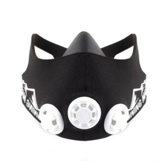 ELEVATION TRAINING MASK 2.0 M SIZE (150 - 240lbs)-mma fitness high altitude (Black)