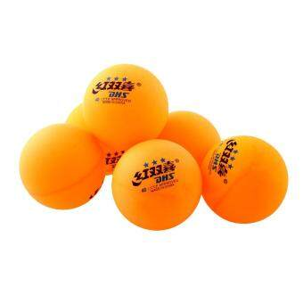 Fabulous 6Pcs 3 stars DHS 40MM Olympic Tennis Orange Ping PongBalls Competition Durable