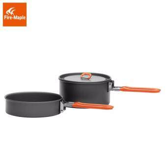 Fire Maple FEAST 2 Outdoor Camping Hiking Cookware BackpackingCooking Picnic Pot Pan Set Foldable Handle 2-3 Persons - 5
