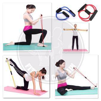 Fitness Gym Muscle Rope Exercise Resistance Band ( Single with Color Random )