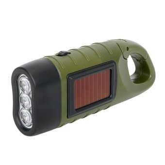 Harga Hand Crank Dynamo Solar Power Tent Light LED Flashlight Portablefor Outdoor Camping Mountaineering Torch Lantern
