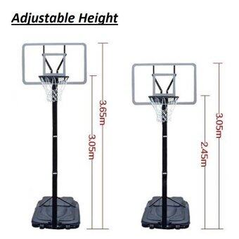 Hand pull conveniently adjustable NBA height PortableBasketballStand Basketball Hoop Basketball Rim