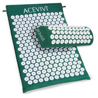 Harga Sunwonder ACEVIVI Acupressure Mat Relieve Stress Pain Acupuncture Spike Yoga Mat with Pillow (Green)