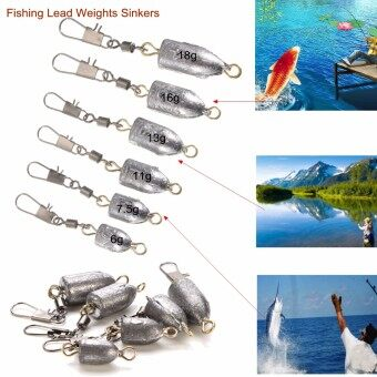 Harga 1 Pcs Drilled Lead Weights Sinkers Leader Sea Fishing Lead Tackle All Size 2#