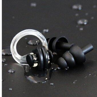 Harga Soft silicon swim earplugs and nose clips waterproof