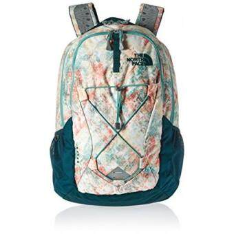 Harga GPL/ The North Face Womens Jester Backpack Golden Haze Neo Geo Print/Deep Teal Blue/ship from USA