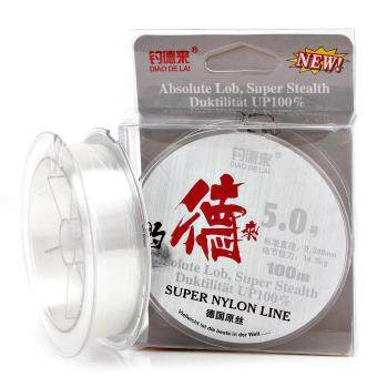 Harga 100M White Nylon Fishing Line 14.3-40.6LB Super Stealth Leader Line Fly Fishing Line