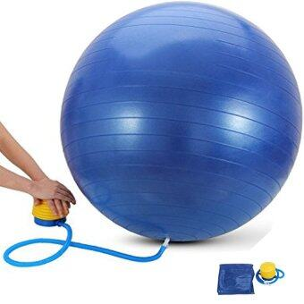 Harga 65cm Yoga Ball High Quality Burst Resistance [Blue] + Free Pump