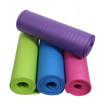 Harga Yoga mat upset Yoga mat natural rubber NBR antiskid widened 10 mm sports fitness MATS factory direct sale