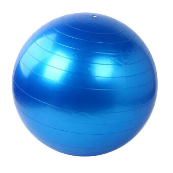 Harga 95cm Yoga Gym Fitness Ball Anti Burst Birth Pregnancy Ball Burst Resistance Free Air Pump(Blue)