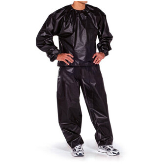 Harga Fitness Loss Weight Sweat Suit Sauna Suit Exercise Gym Size XXL Black