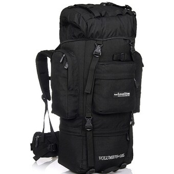 Harga Local Lion 85L Waterproof Hiking and Outdoor Backpack (Black)
