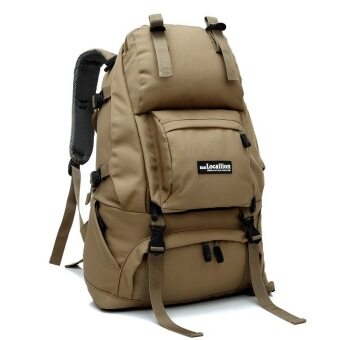 Harga Local Lion LL1055L 50L Waterproof Outdoor Backpack (Khaki)