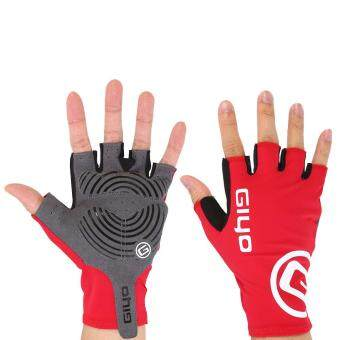 Harga Summer Style Half Finger Cycling Glove Outdoor Fluorescent (Red M)