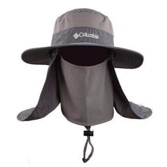 Harga DISCOUNT!!! WJS Outdoor 360 sunscreen fisherman hat Multi-functional quick-drying cap Sun hat fishing cap on the spot(Grey)
