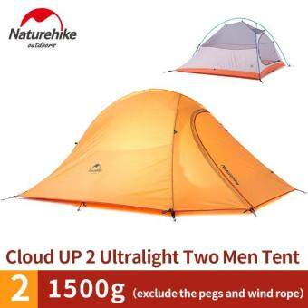 Harga Naturehike 2 person Camping Tent, Waterproof Tent Ultralight, Lightweight Double layer Tent 20D Silicone Fabric 4 season