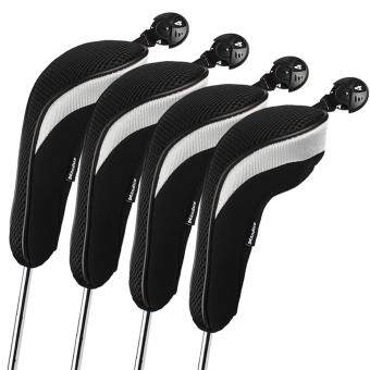 Harga Andux 4pcs/set Golf Hybrid Club Head Covers Headcovers Interchangeable Black