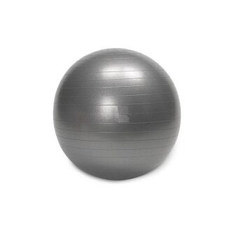 Harga Burst Resistance Yoga Ball Iron Gym Fitness Slimming Belt (GREY)