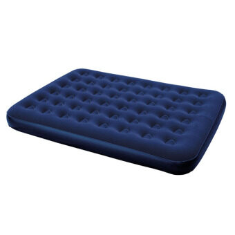 Harga BESTWAY (67003NP100) 1.52 Meter Portable Premium Series Inflatable Double Bed Air Mattresses - (Dark Blue)