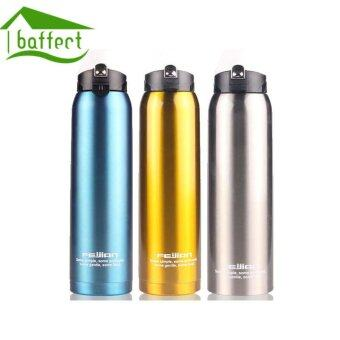 Harga BAFFCT Big Capacity 1000ML Sport Water Bottles Stainless Steel Vacuum Insulation Cups(Blue)