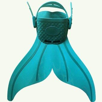 Harga 2016 Swim Fins Mermaid Monofin Fin Flippers Adjustable Swimming Toy Tails for Boys Girls Green