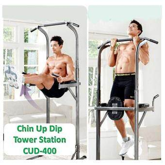 Harga Chin Up Dip Tower Station CUD-400 - Pull Up Abs Upper Body Exercise 125kg Durable Weight