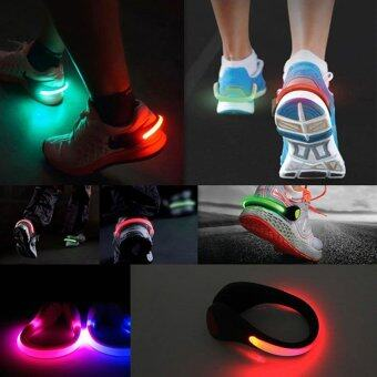 Harga 2Pcs Luces LED Shoes Cycling Shoes Clip Bike Lights Night Safety Warning LED Bright Flash Light For Running