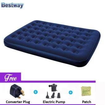 Harga BESTWAY (67003) Portable Premium Series Inflatable Double Bed Air Mattresses - (Dark Blue) - Premium