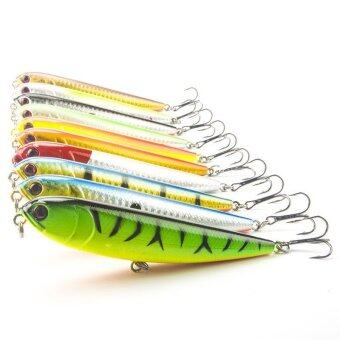 Harga 10pc/lot 22g Pencil Fishing Lure Topwater Dogs Hard Lures Baits Wobbler Artificial Hard Bait Fishing Tackle